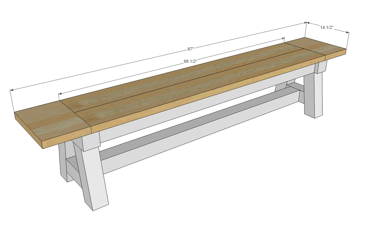Woodwork 4x4 Bench Plans PDF Plans. Full resolution‎  photo, nominally Width 1400 Height 895 pixels, photo with #937338.