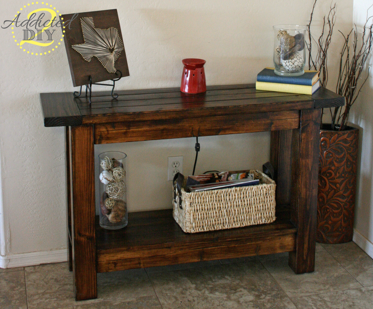 Ana White Pottery Barn Inspired Console Table Diy Projects