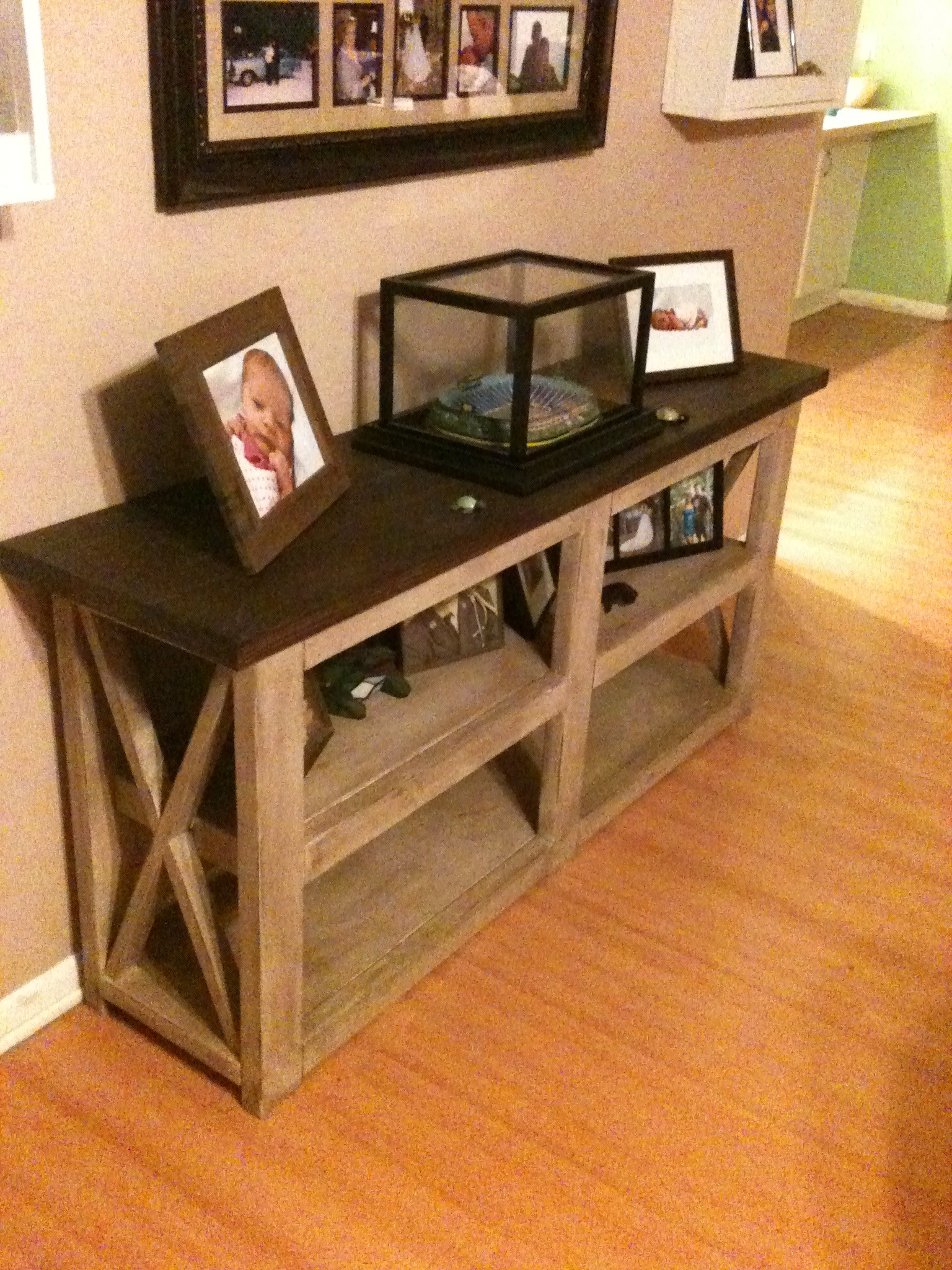 Picture of: Rustic X Sofa Table Ana White