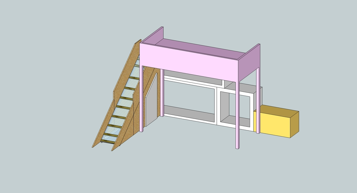Free Loft Bed Plans With Slide, Apr... - Amazing Wood Plans