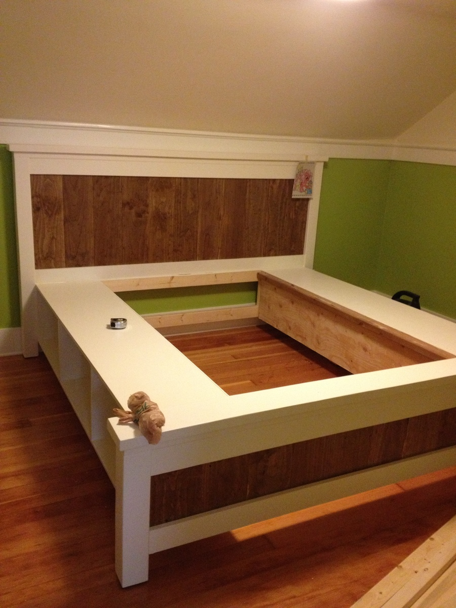 17 best ideas about king size bed frame on pinterest farmhouse bed accessories diy king bed frame and rustic bed frames