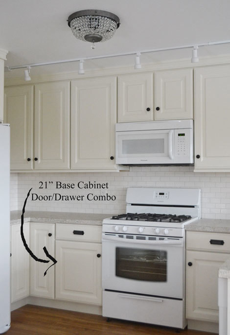 building kitchen cabinets in place white 21 quot base cabinet door drawer combo momplex 951