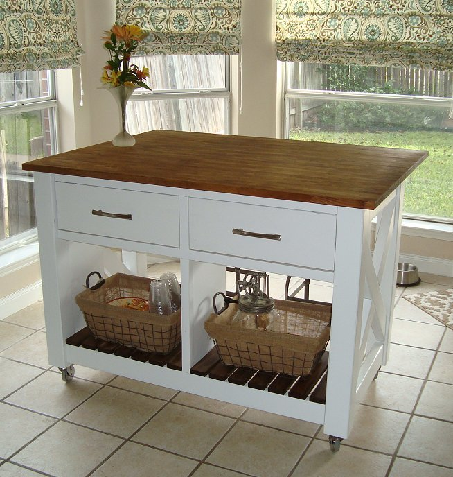 Rustic X Kitchen Island Done Ana White