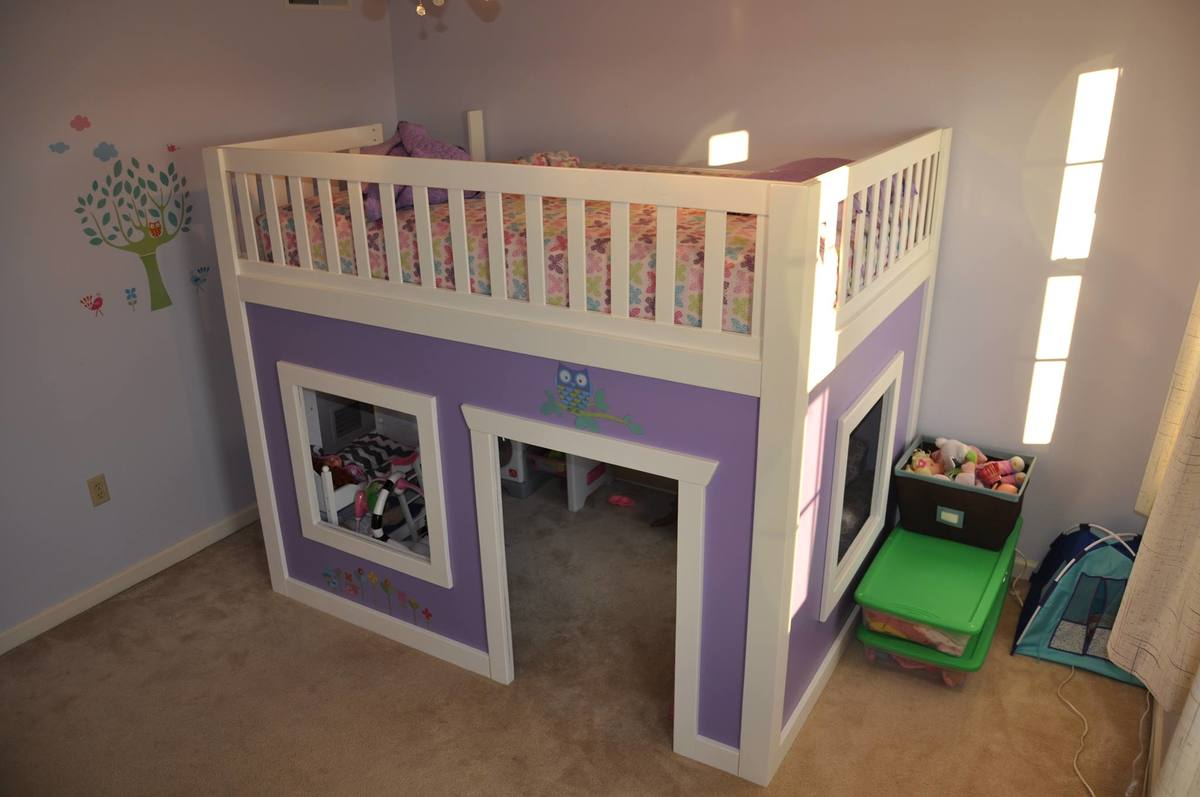 Playhouse Loft Bed Full Size Ana White