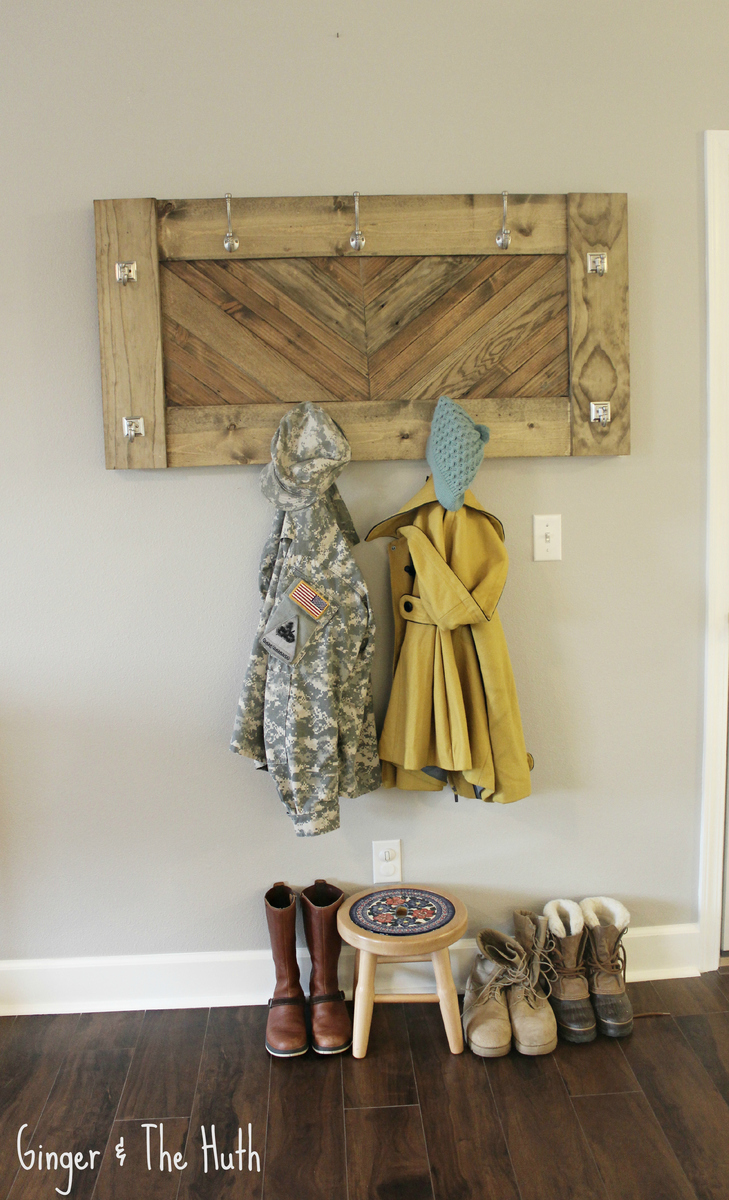 How To Build A Coat Rack Shelf