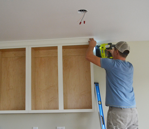 Adding Crown Moulding To Wall Kitchen