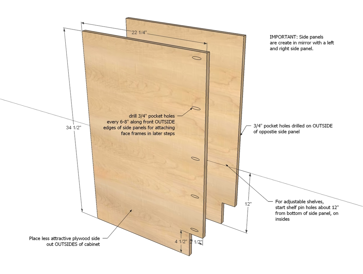 kitchen base cabinets plans