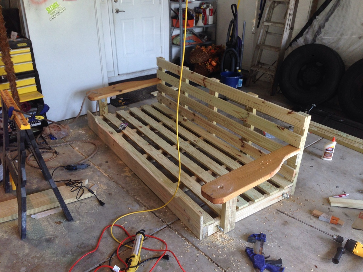 Ana white porch swing bed diy projects for Swing bed plans