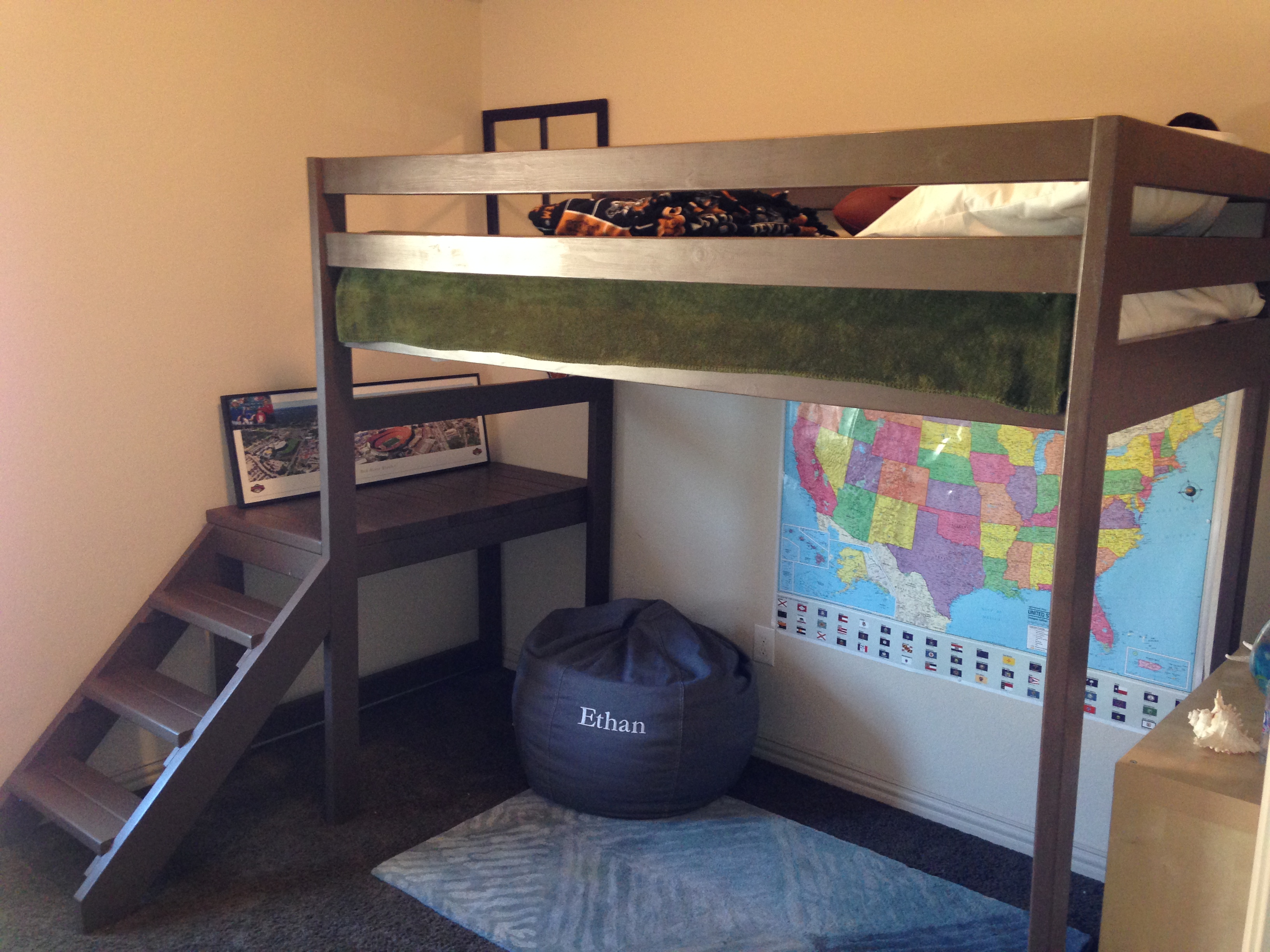 25 Diy Bunk Beds With Plans: Camp Loft Bed (modified Height) - DIY Projects