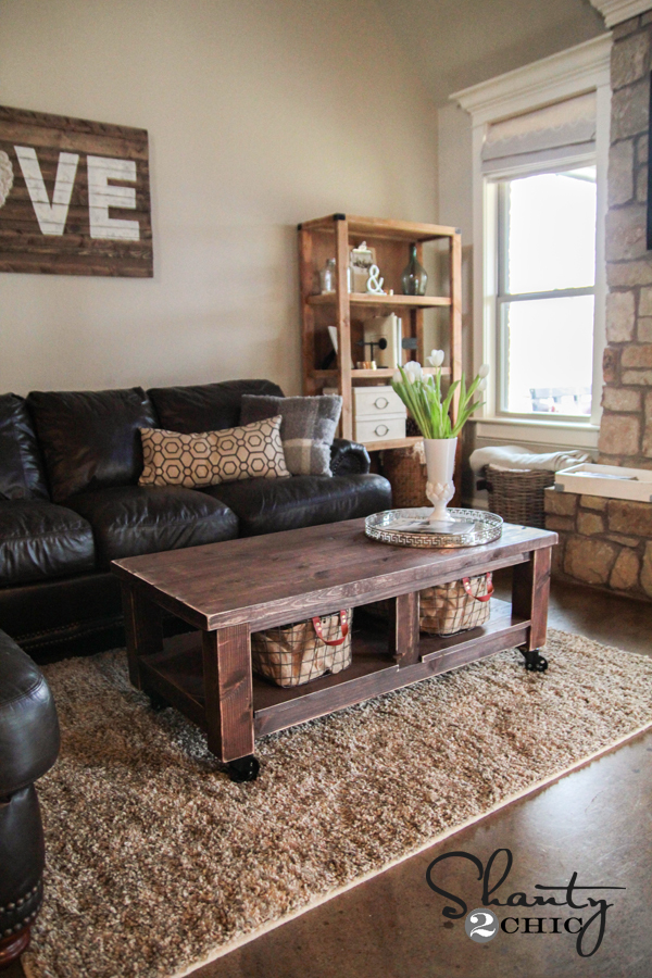 Pottery Barn Rustic Coffee Table.Taylors Coffee Table Ana White
