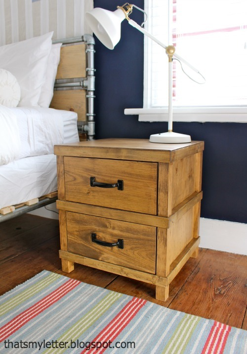 Ana white owens nightstand diy projects Simple bedside table designs