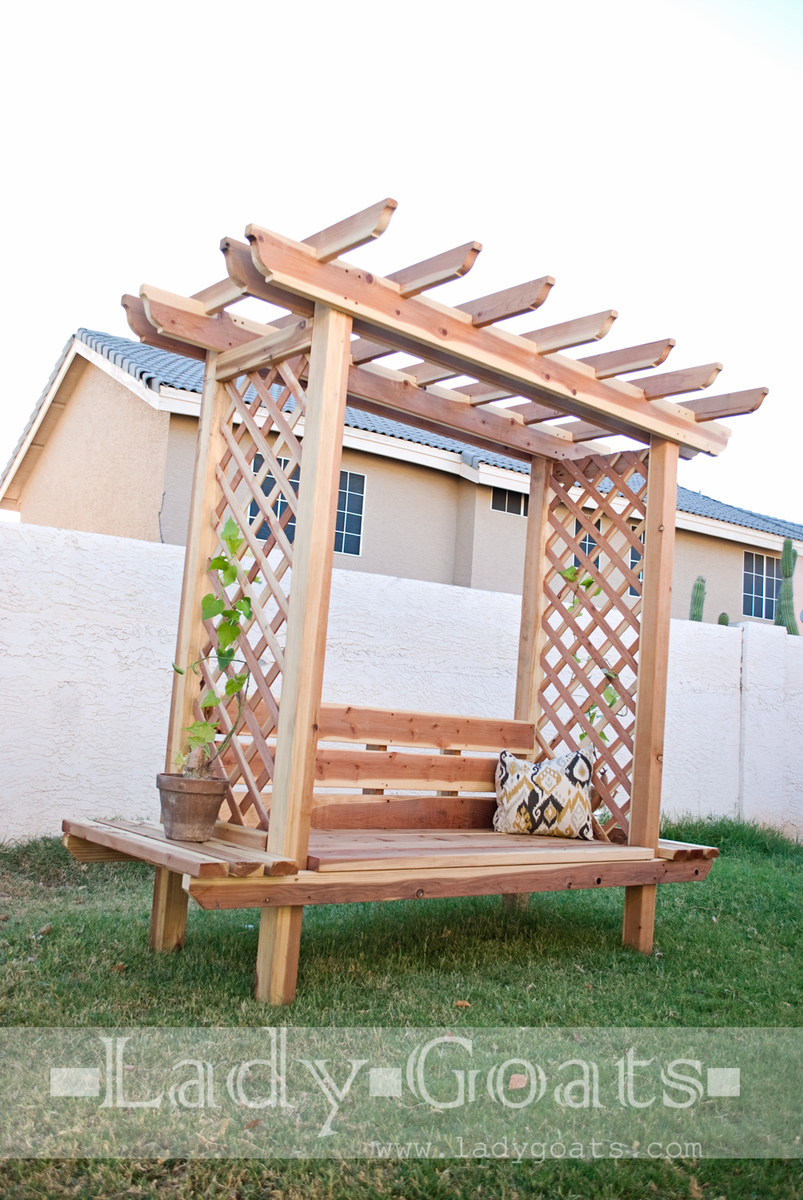 Bench With Arbor Free And Easy Diy Project Furniture Plans