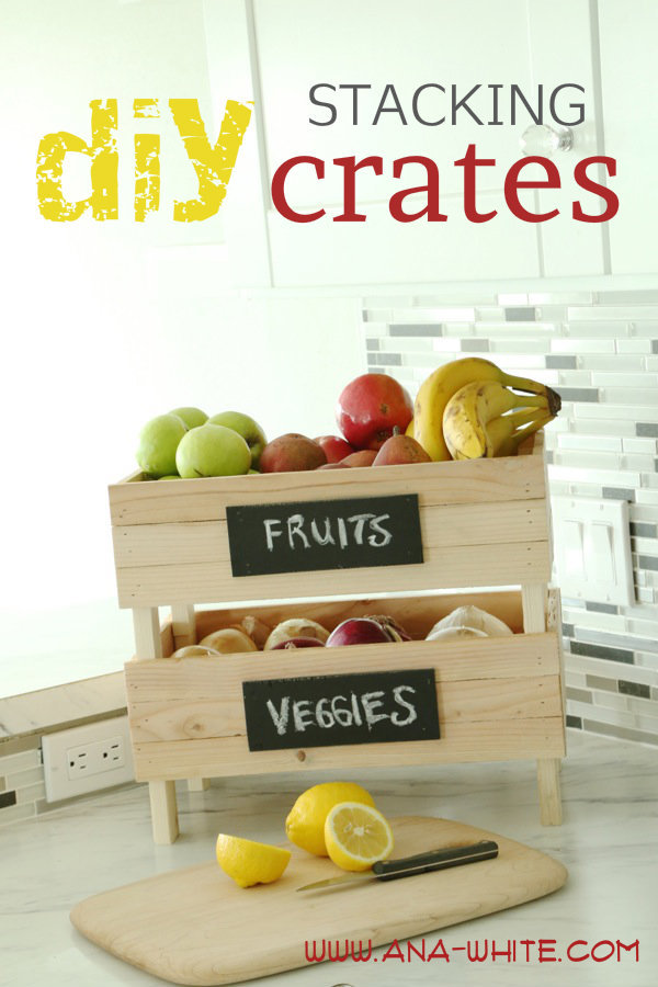 Ana White Stackable Fruit And Vegetable Storage Crates