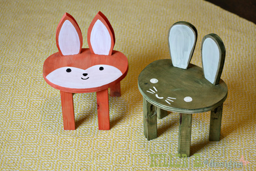 Ana White Toddler Animal Stools Feature From Killer B