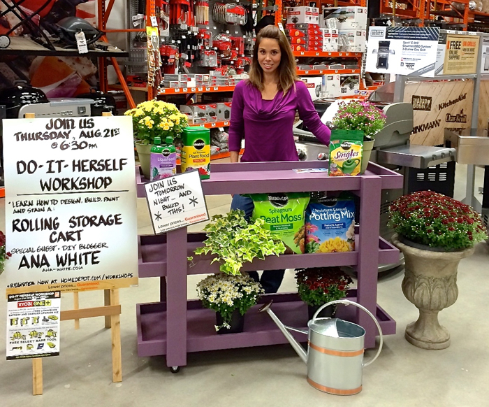 Ana White Home Depot S Do It Herself Workshops Let S Do This