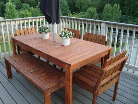 outdoor dining furniture plans