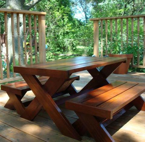 build easy picnic table plans