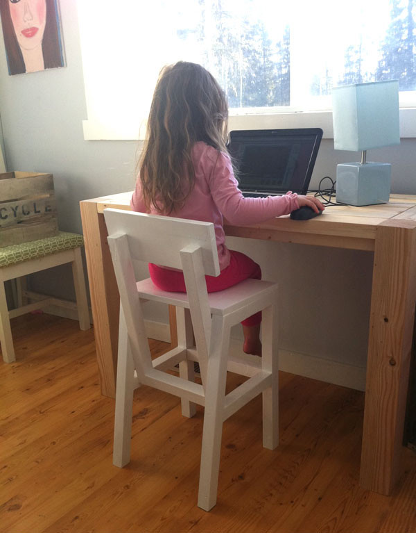 How to build a junior chair preschooler child