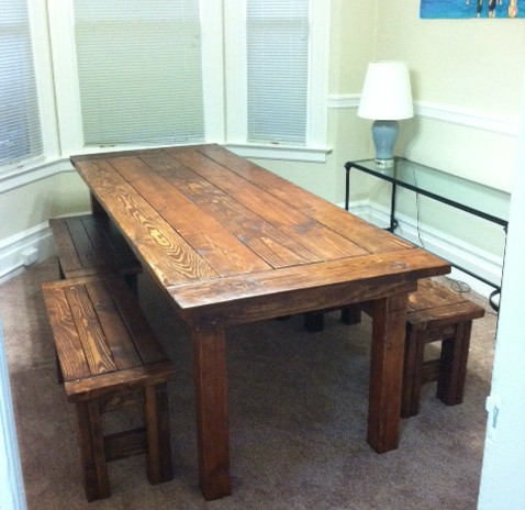 Wood Plan Diy Farmhouse Table And Bench Plans