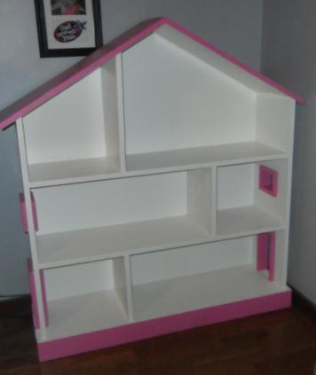 Ana white dollhouse bookcase diy projects for Build a simple bookshelf