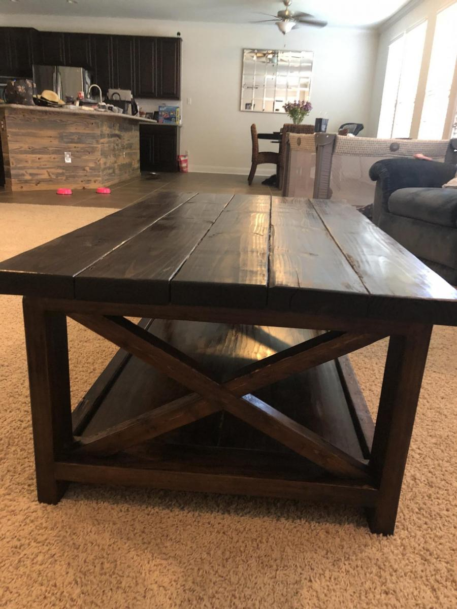 Rustic X Coffee And End Tables