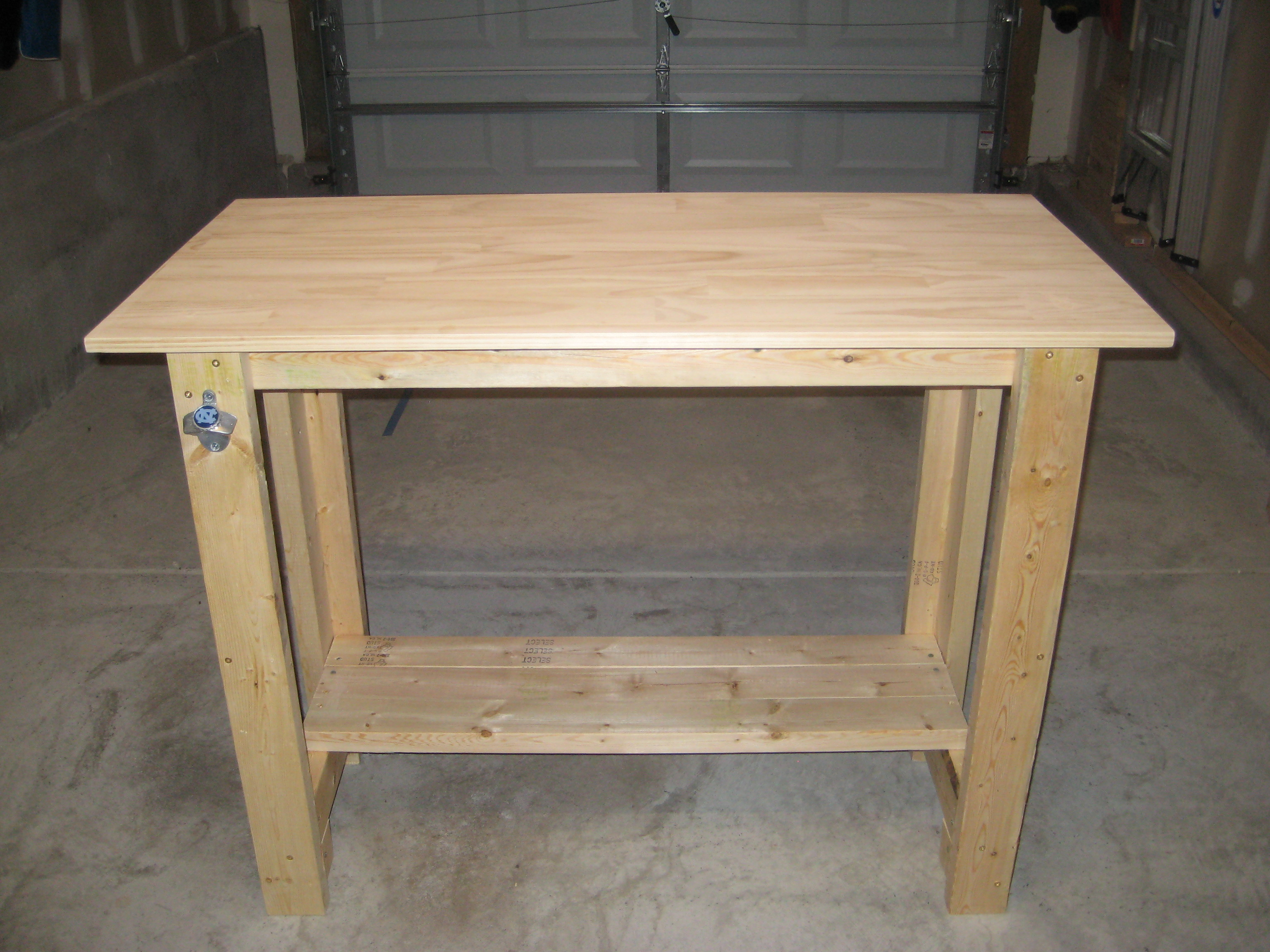 Ana White Sturdy Work Bench First Project Completed