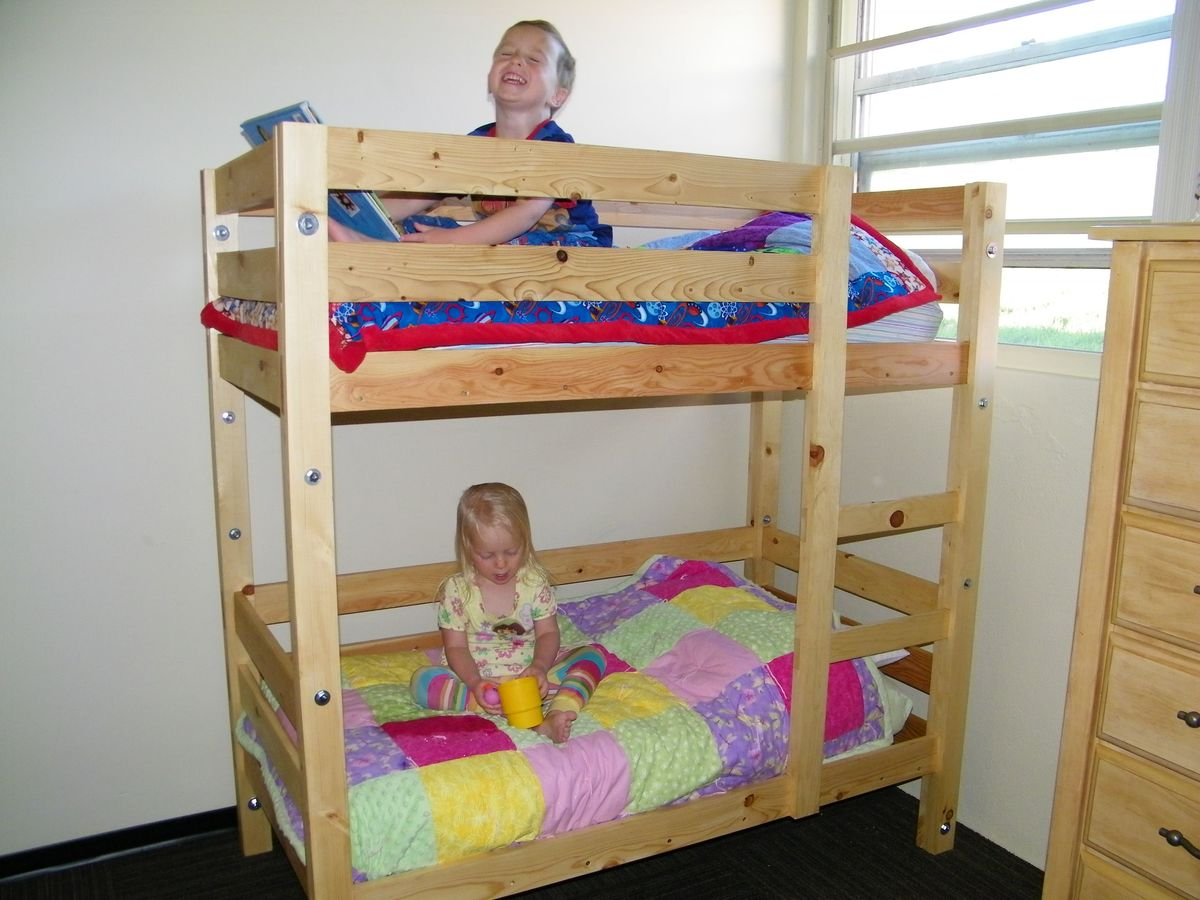 Ana white toddler bunk beds diy projects for Toddler bunk beds