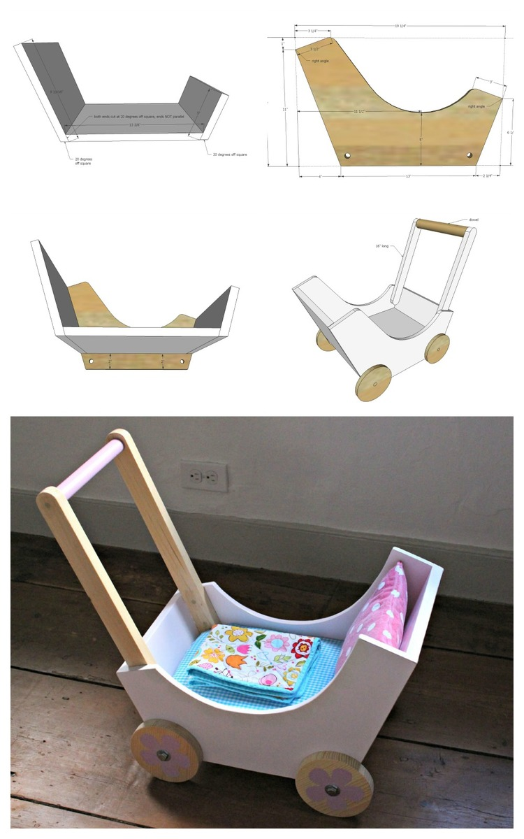 Ana White | Wood Doll Pram or Stroller - DIY Projects