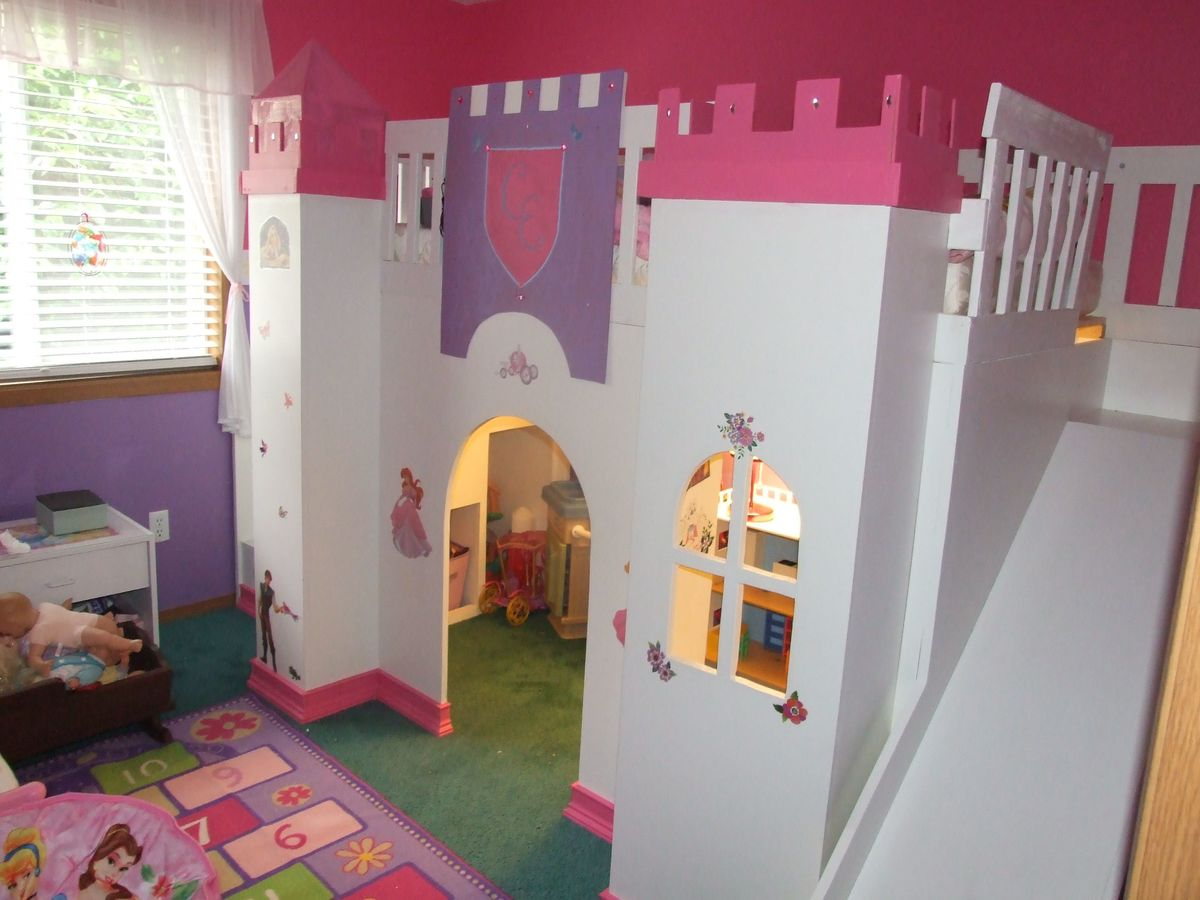 princess castle playhouse loft bed plans