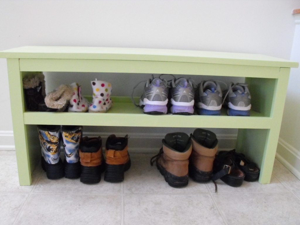 bench shoe storage plans