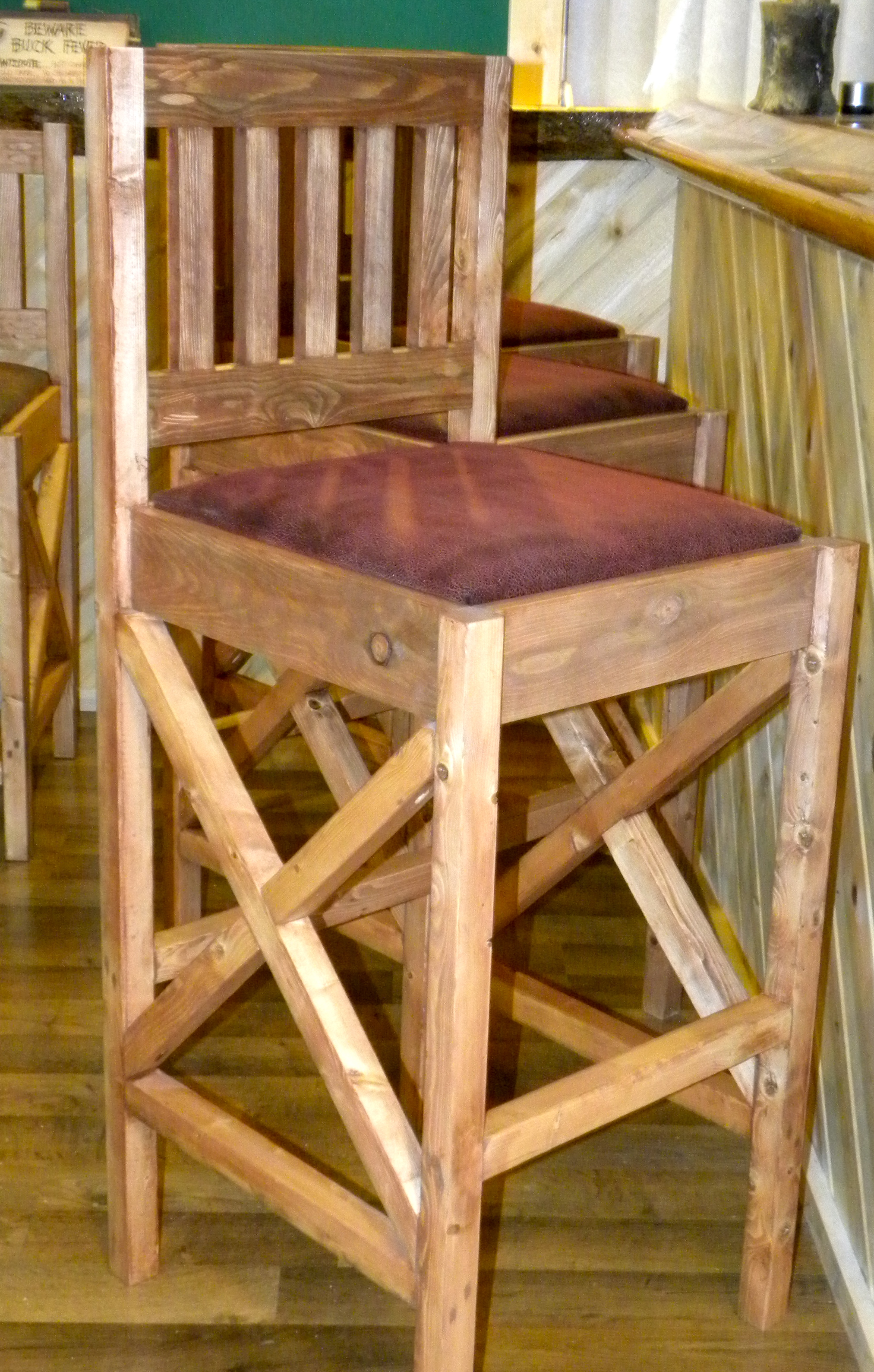 Ana White | Rustic Bar Stools - DIY Projects