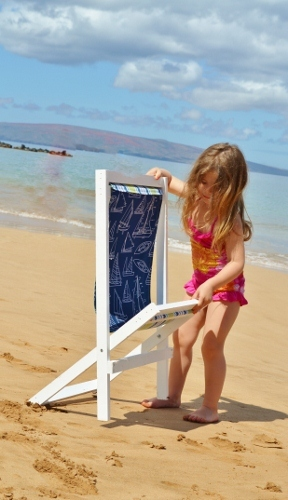 Beach Chair Kids Must Have Easy To Remove Slings With This We Used Dowels So That Keeping The Fabric Fresh And Clean Is Fun