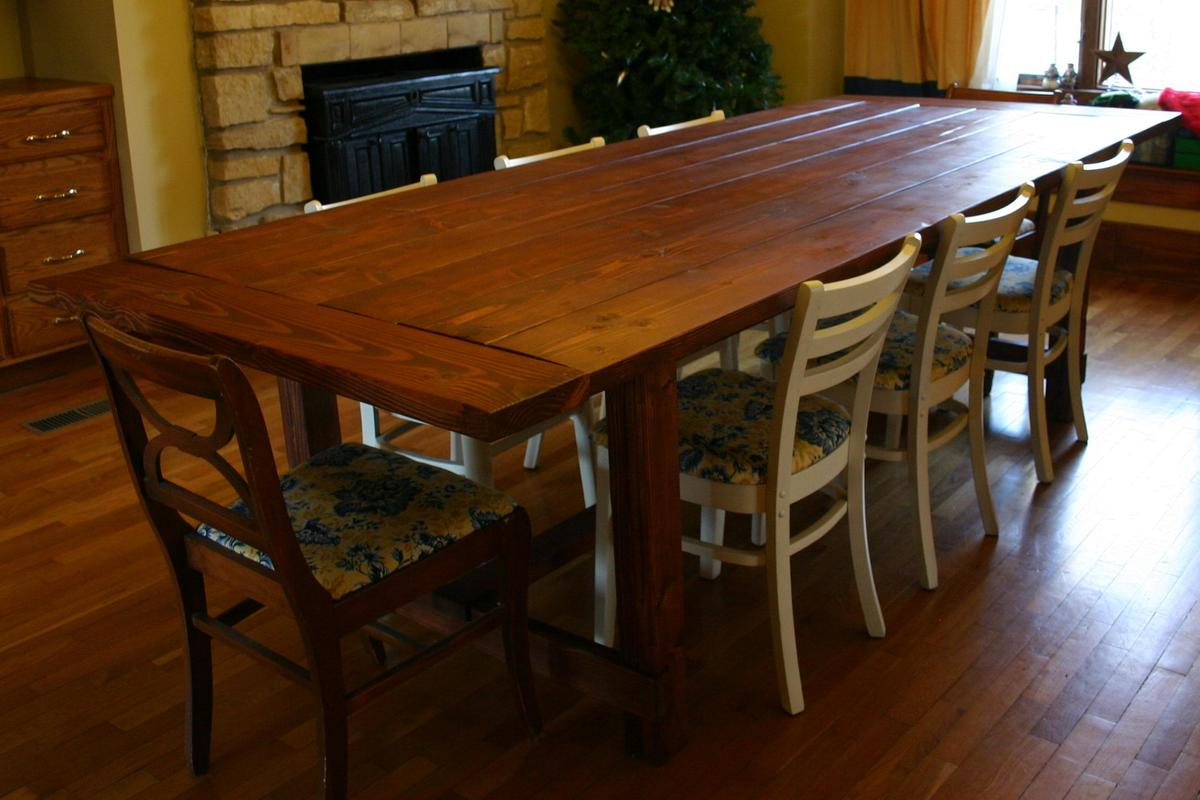 Large Farm Table Plans: My First Building Project Ever. Thanks Ana