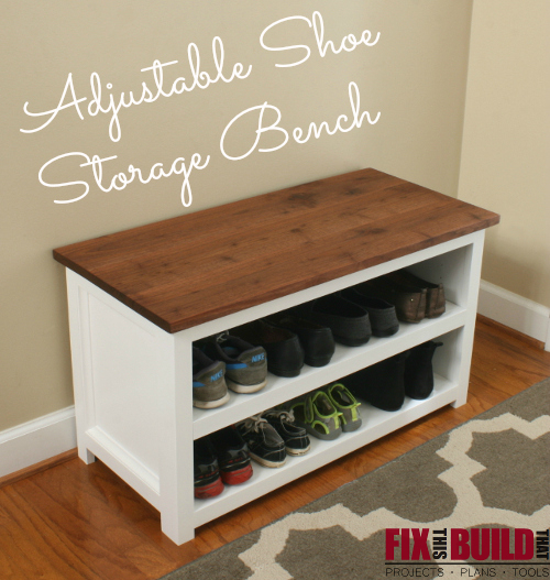 Ana White | Adjustable Shoe Storage Bench - DIY Projects