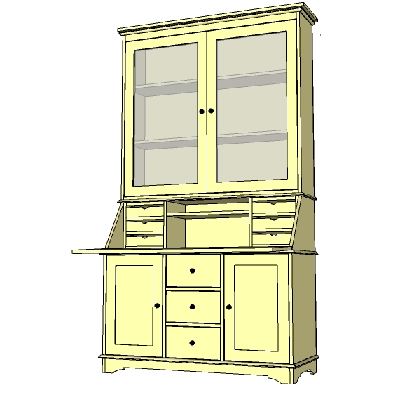 diy secretary desk plans