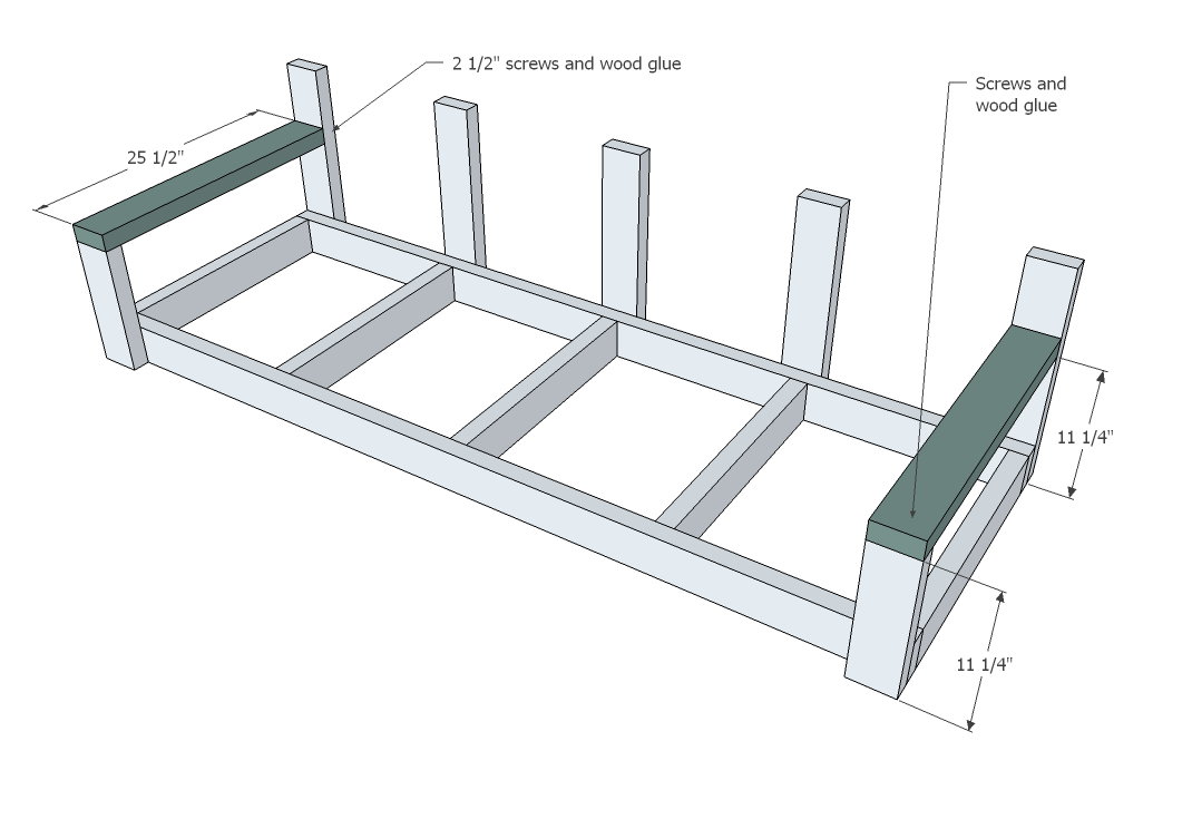 hanging swing bench plans