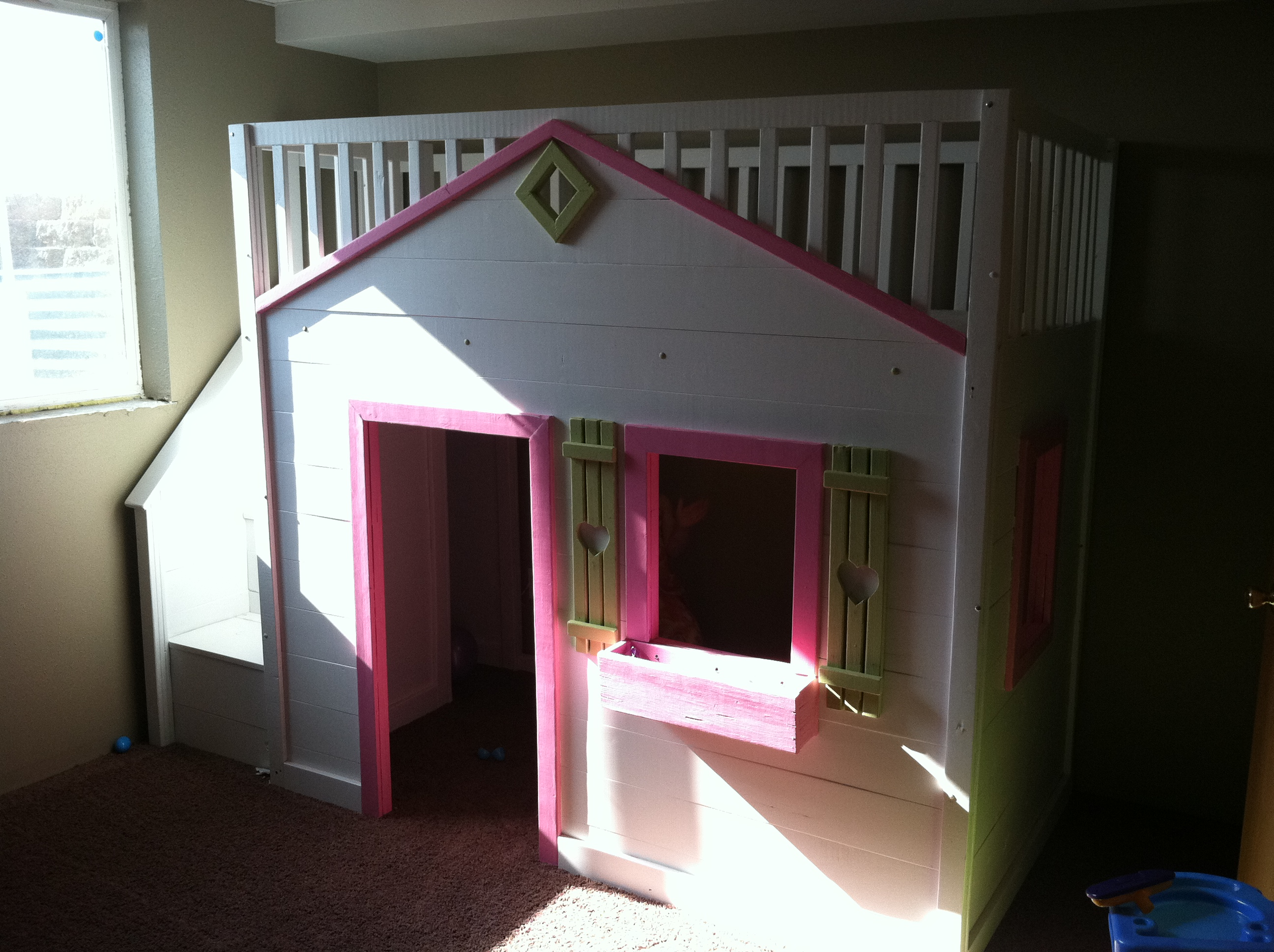 Ana White Cottage Loft Bed With Stairs Diy Projects