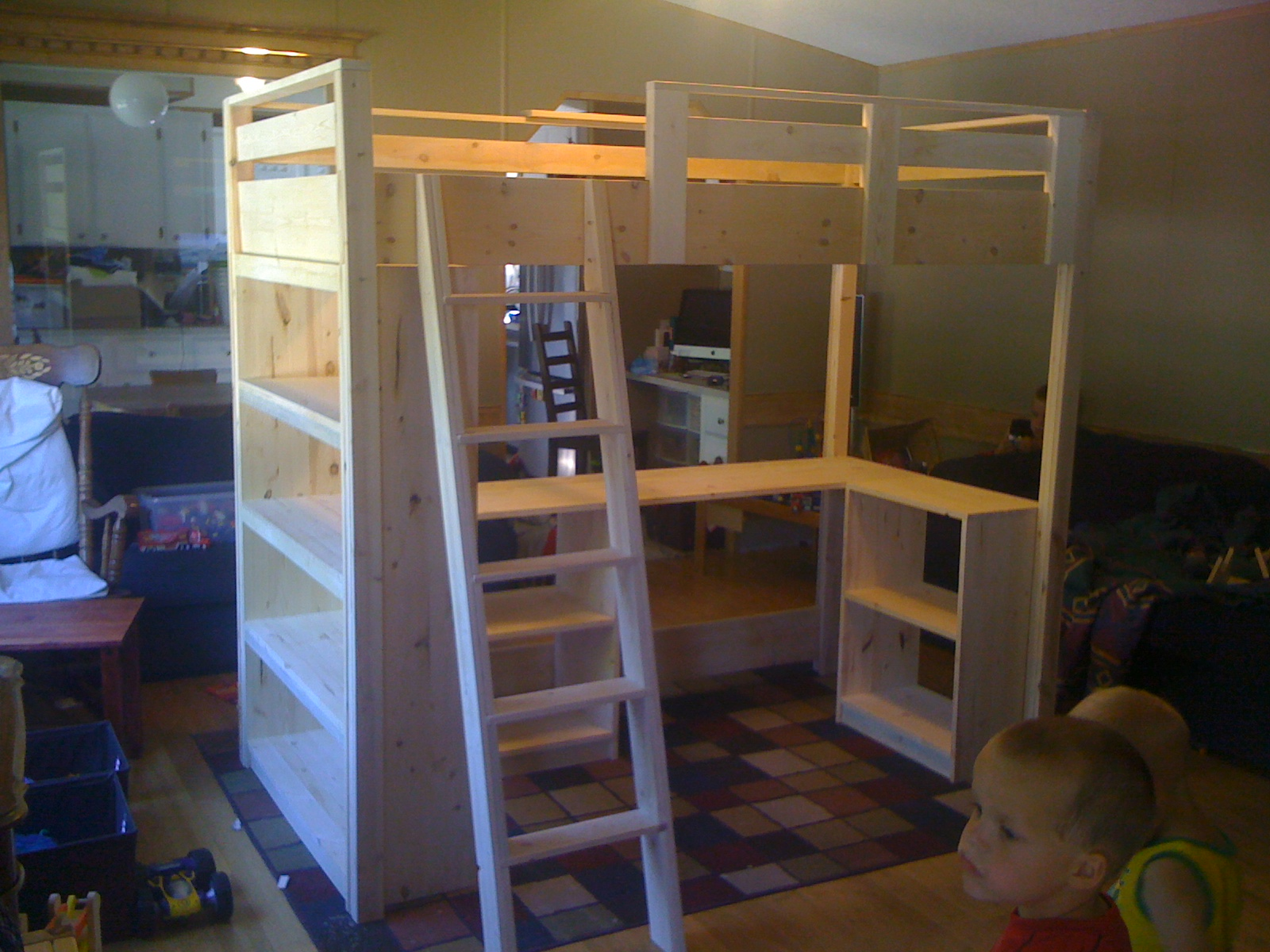 ana white claire 39 s loft bed diy projects