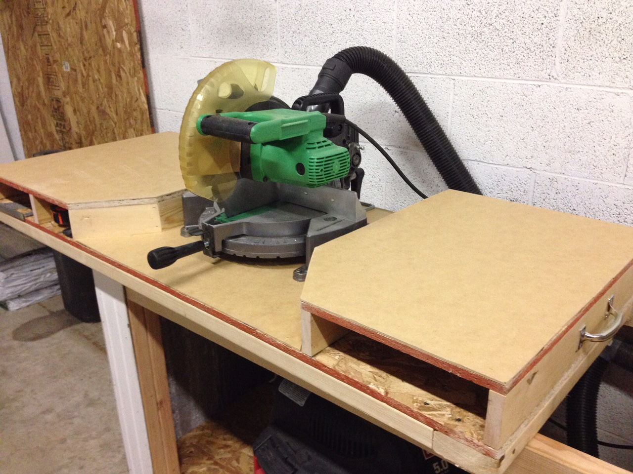 Ana White Miter Saw And Table Saw Station Diy Projects