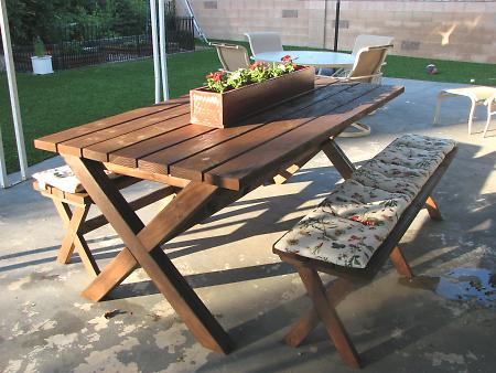 Ana White | Ashley's X Bench for X Picnic Table - DIY Projects