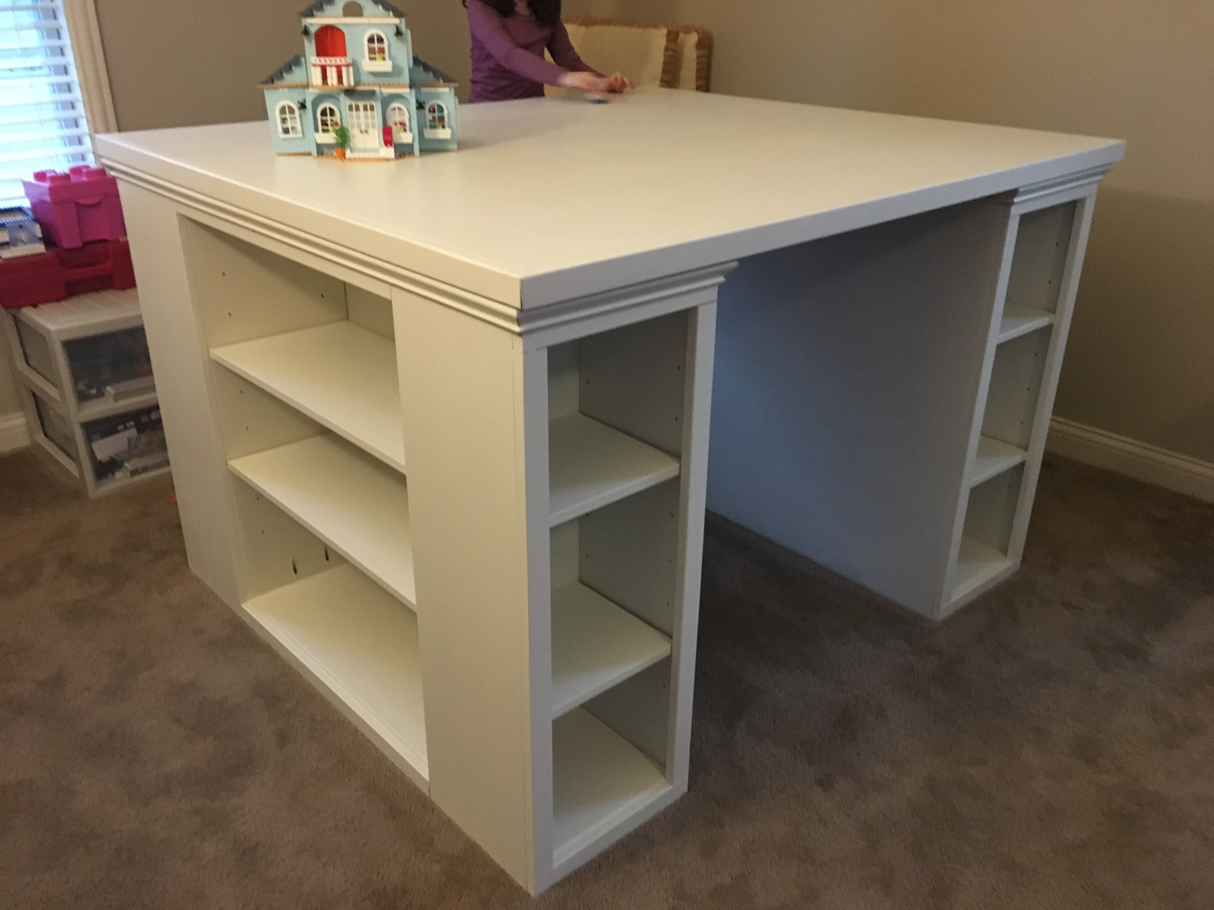 A More Traditional Modern Craft Table Ana White