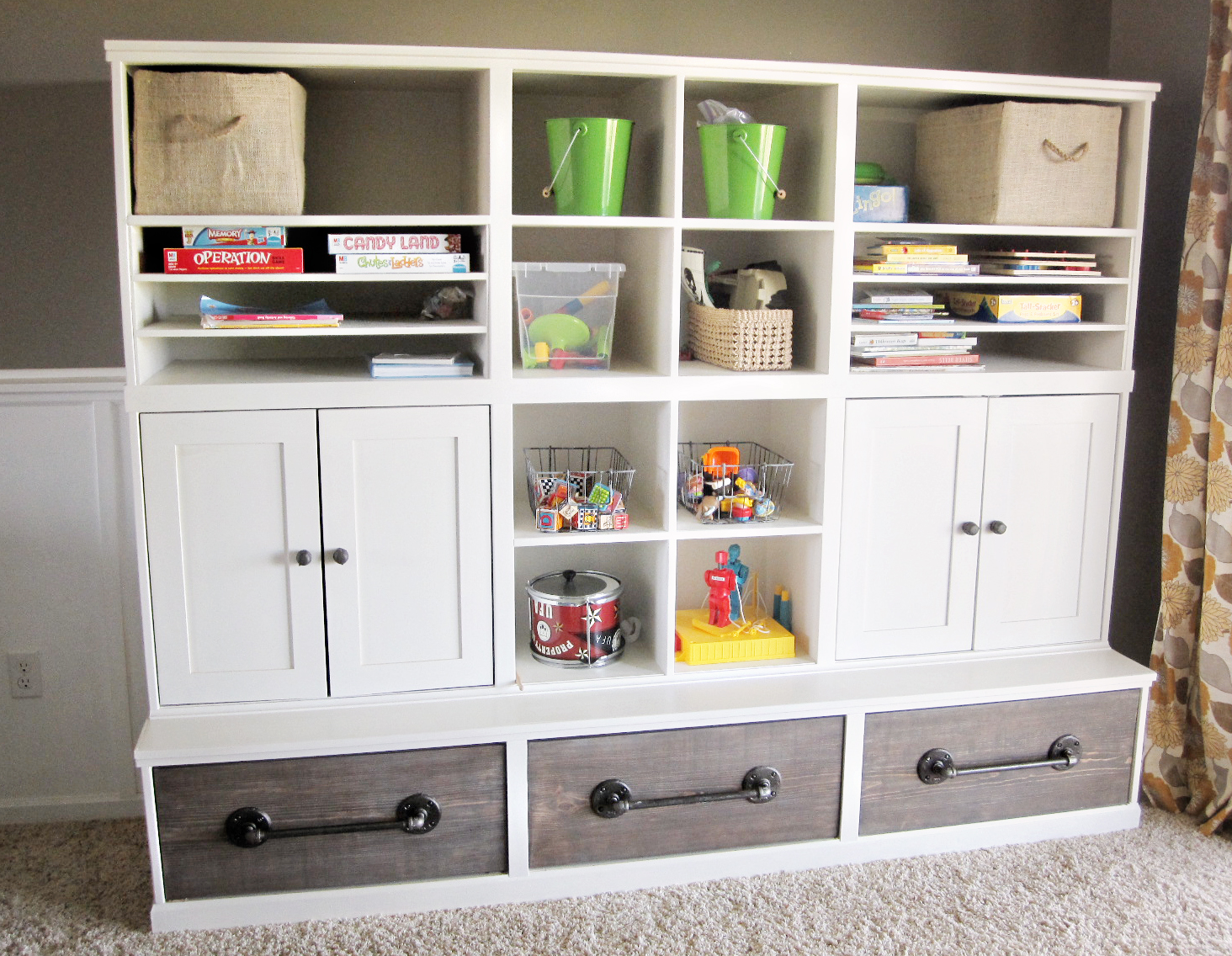 Triple Cubby Storage Base Inspired By Pottery Barn Kids Cameron Collection Ana White