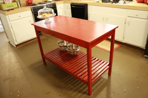 Simple Kitchen Island - DIY Projects