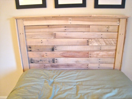 How to make a headboard out of pallets
