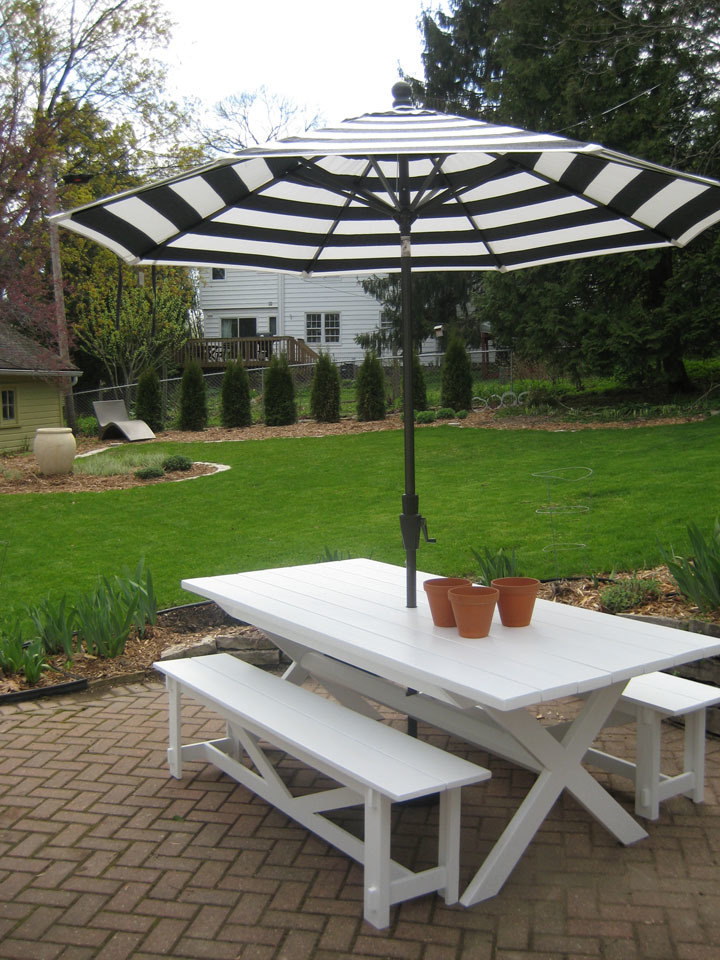 Ana White Pottery Barn Benches With X Table Modified