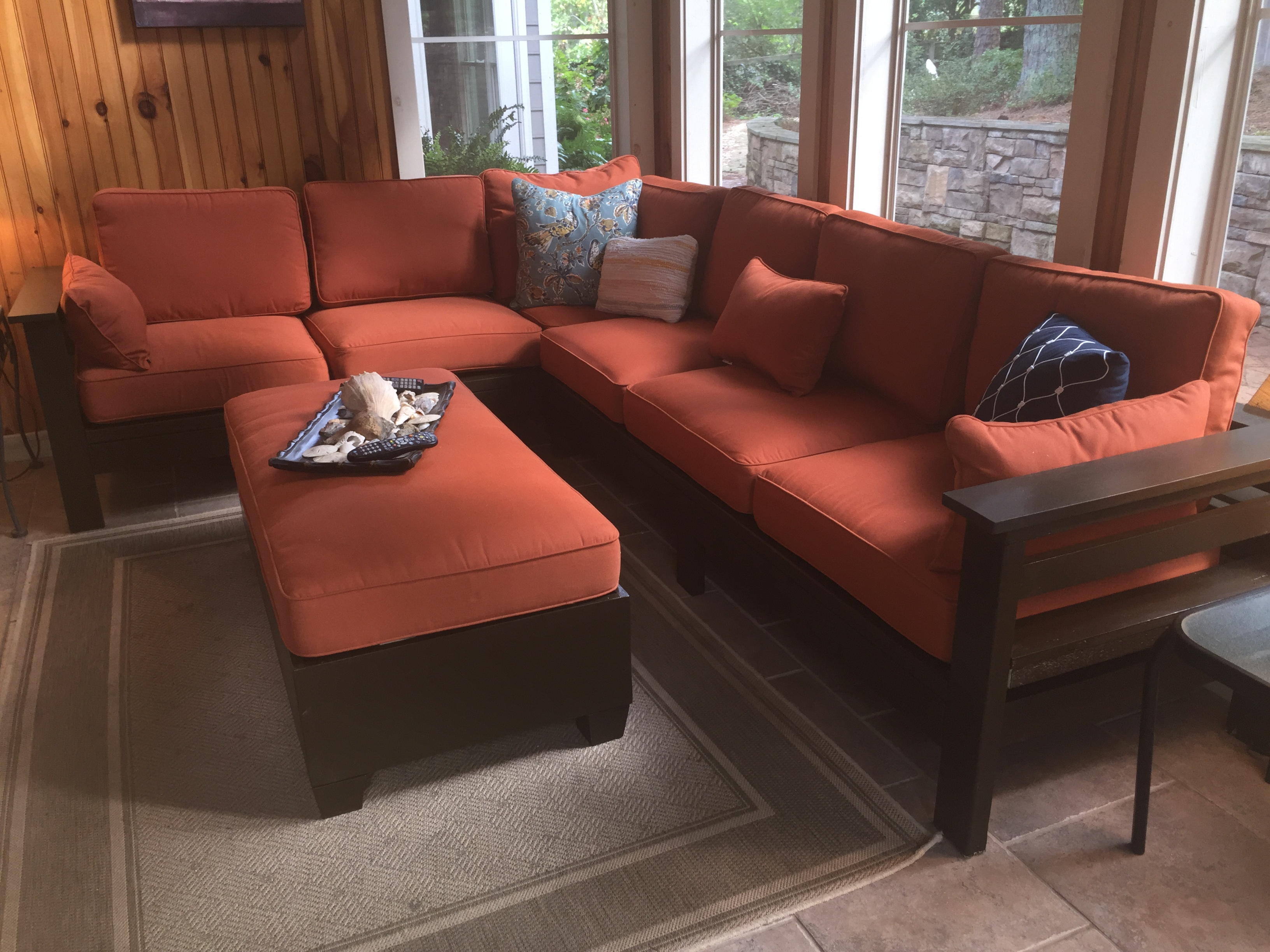 Outdoor Sectional And Tail Ottoman