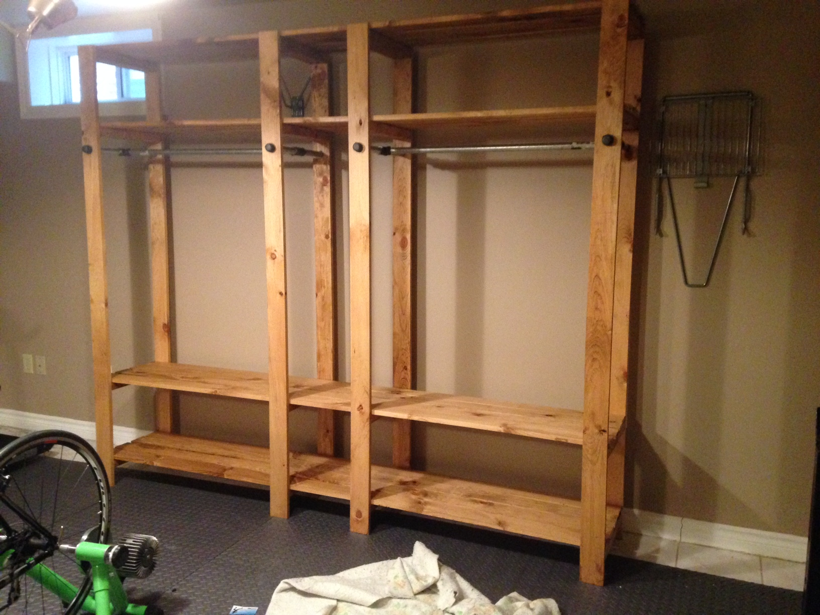 Ana White Industrial Closet System Diy Projects
