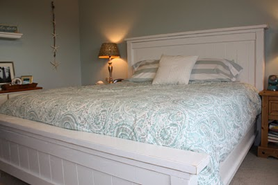 white farmhouse bed