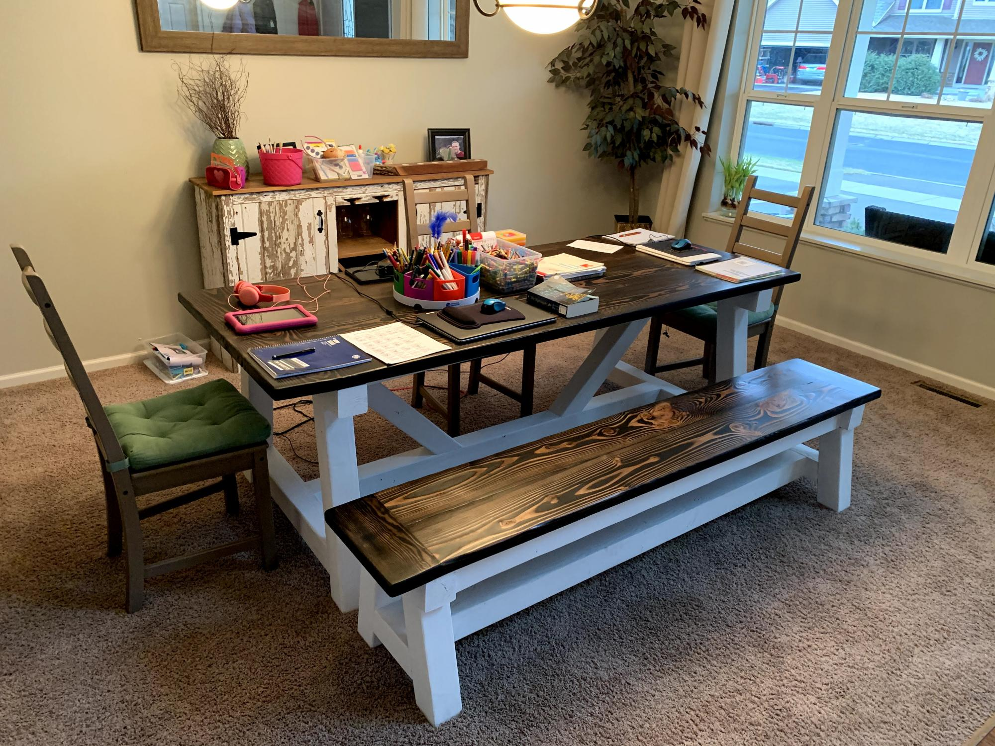 Dinning Room Table Amp Bench Ana White