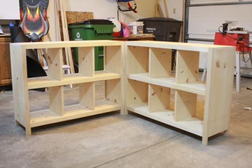 DIY Cube Storage Shelves Plans 500 x 334